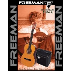 GUITARRA FREEMAN CLASICA EAGLE PACK